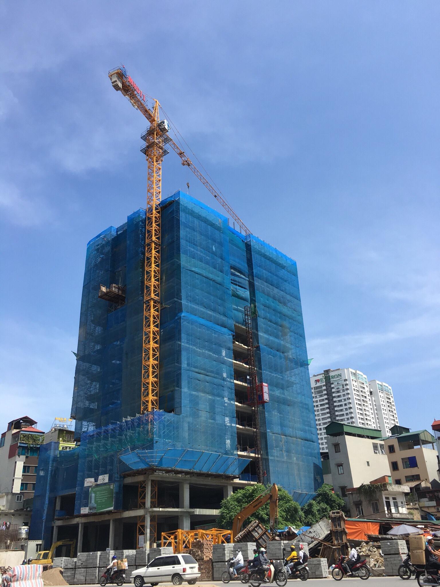 Five Star Trường Chinh: Hoàn thành xây thô tầng mái, hoàn thiện tầng 5 ( Tiến độ Tháng 8/2019)