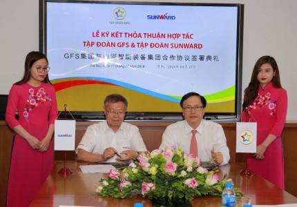 Truyền hình Hanoi - Lễ ký thoả thuận hợp tác giữa Tập đoàn GFS và Tập đoàn Sunward