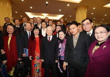 Chủ Tịch GFS Phạm Thành Công tham dự sự kiện ban Bí thư Trung ương Đảng gặp mặt trí thức, văn nghệ sĩ nhân dịp Xuân Mậu Tuất 2018