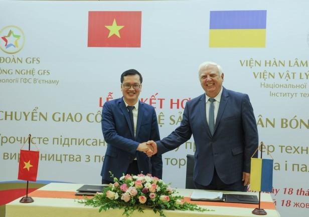 Viện công nghệ GFS & Viện Hàn lâm Khoa học quốc gia Ukraina Ký kết hợp đồng chuyển giao công nghệ sản xuất phân bón hữu cơ
